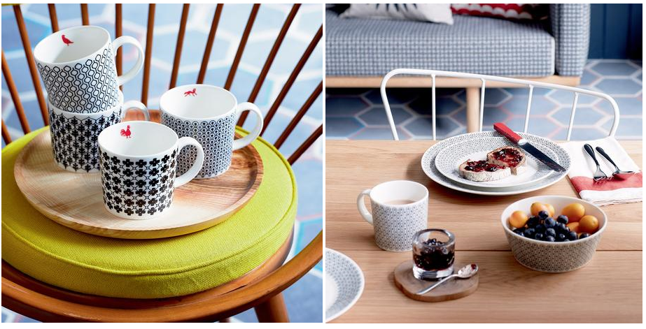 Charlene Mullen Cups (Set of 4) €44.00 and Plates (Set of 4) €38.00.