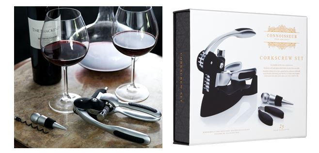 Deluxe Lever Arm Corkscrew Gift Set €69.95.