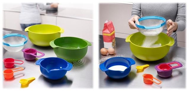 Joseph Joseph Nest Plus Compact Food Preparation Set.