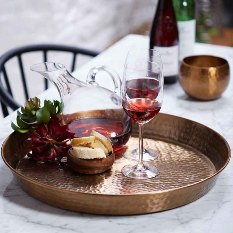 Hammered Tray - Rose Gold. €29.98, save 50%!