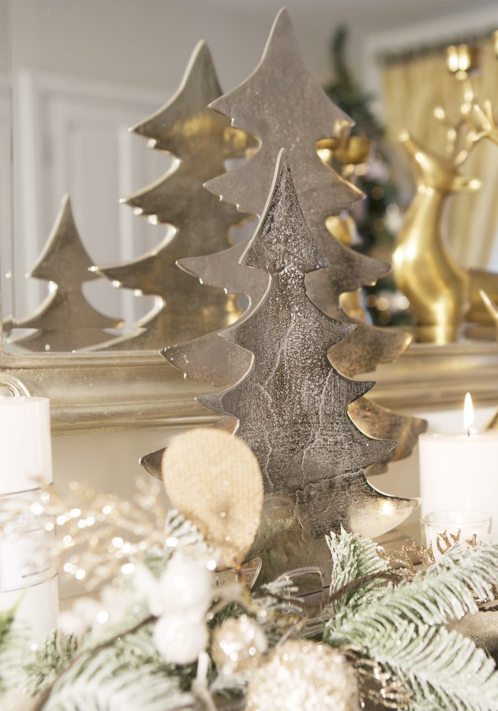 Silver Ornamental Christmas Tree, Meadows & Byrne, €59.95