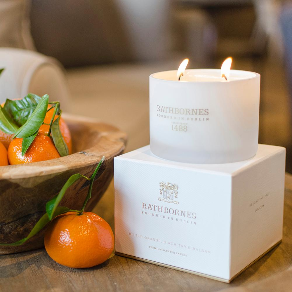 Rathborne's Bitter Orange, Birch Tar And Balsam Classic Candle, €36.