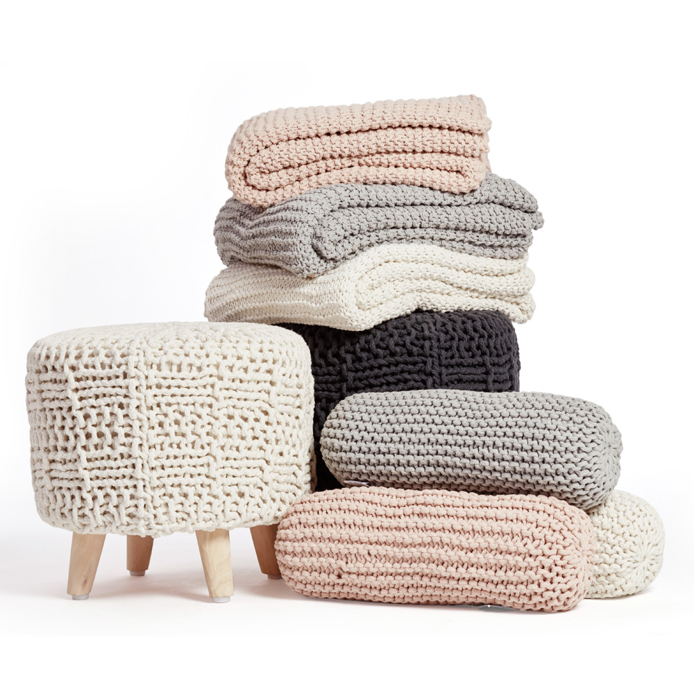 Hygge Style Throws, Bolsters & Stool