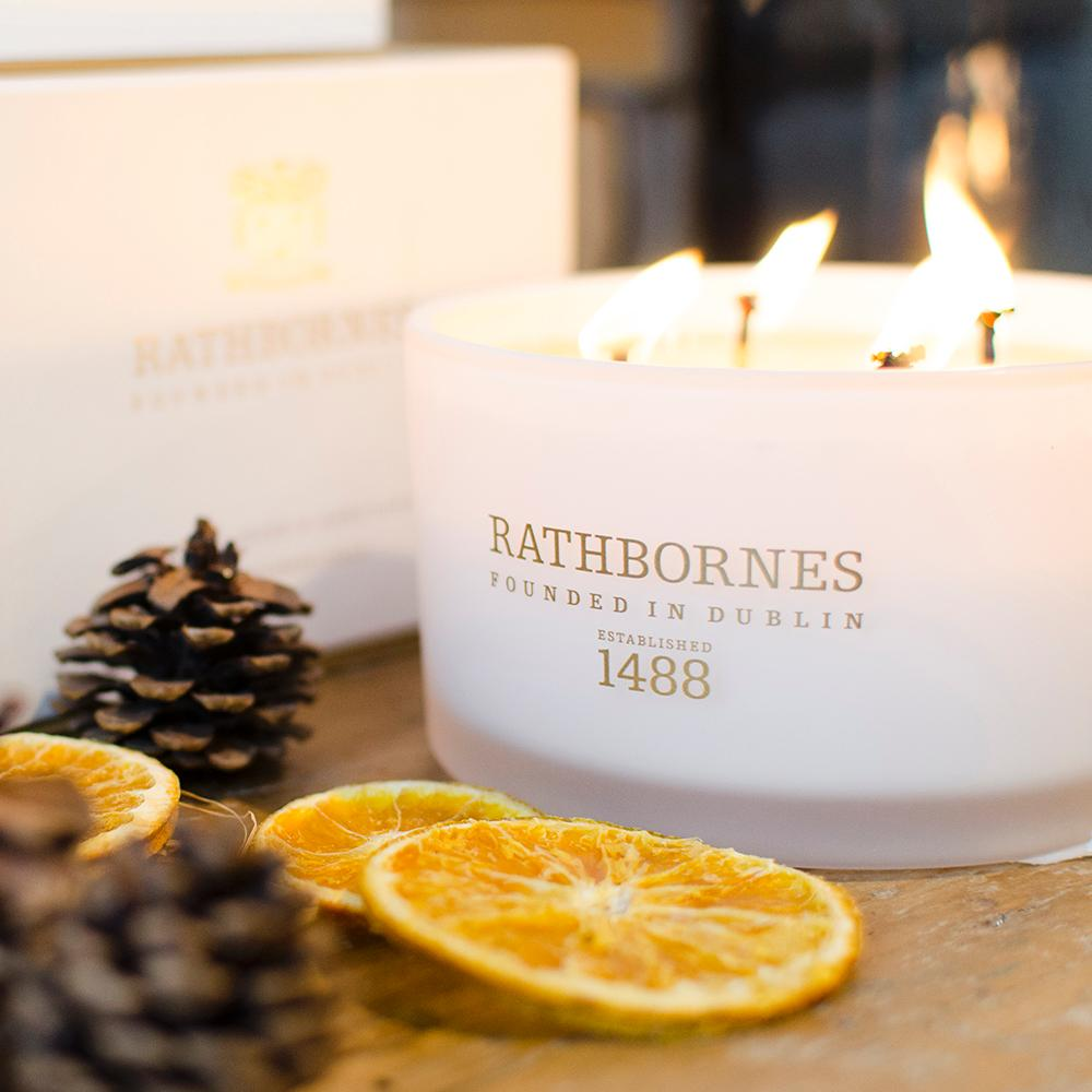 Rathborne's Cedar Cloves & Ambergris Luxury Candle, €54
