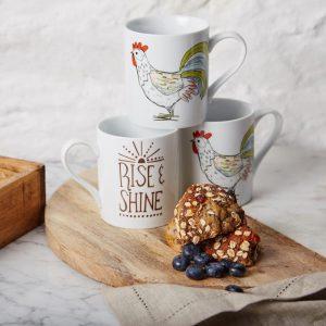 Rise & Shine mugs set of 4, €23.80