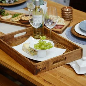 Reclaimed wood rectangular tray, €29.95