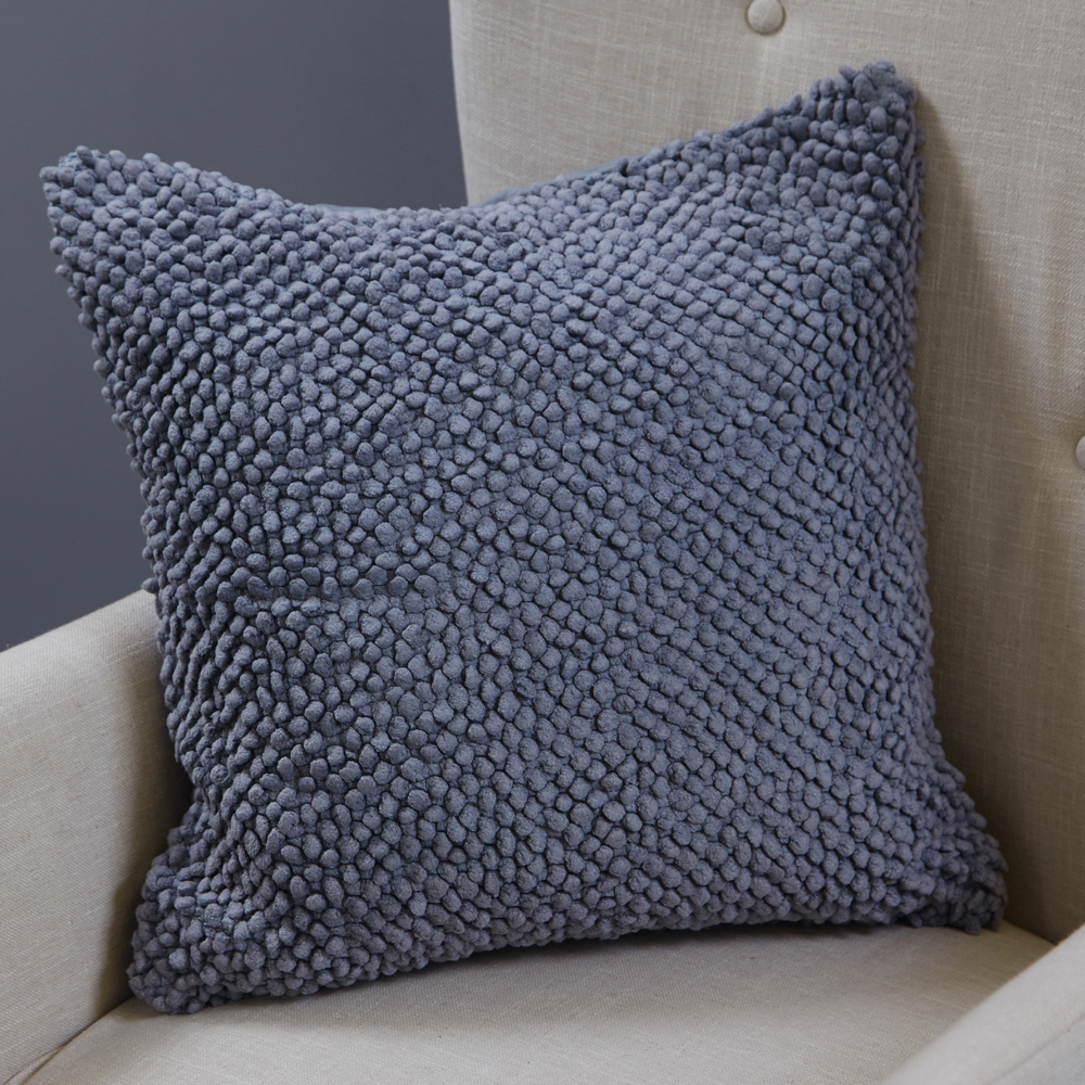 Pompom Cushion Neutral Grey, €34.95