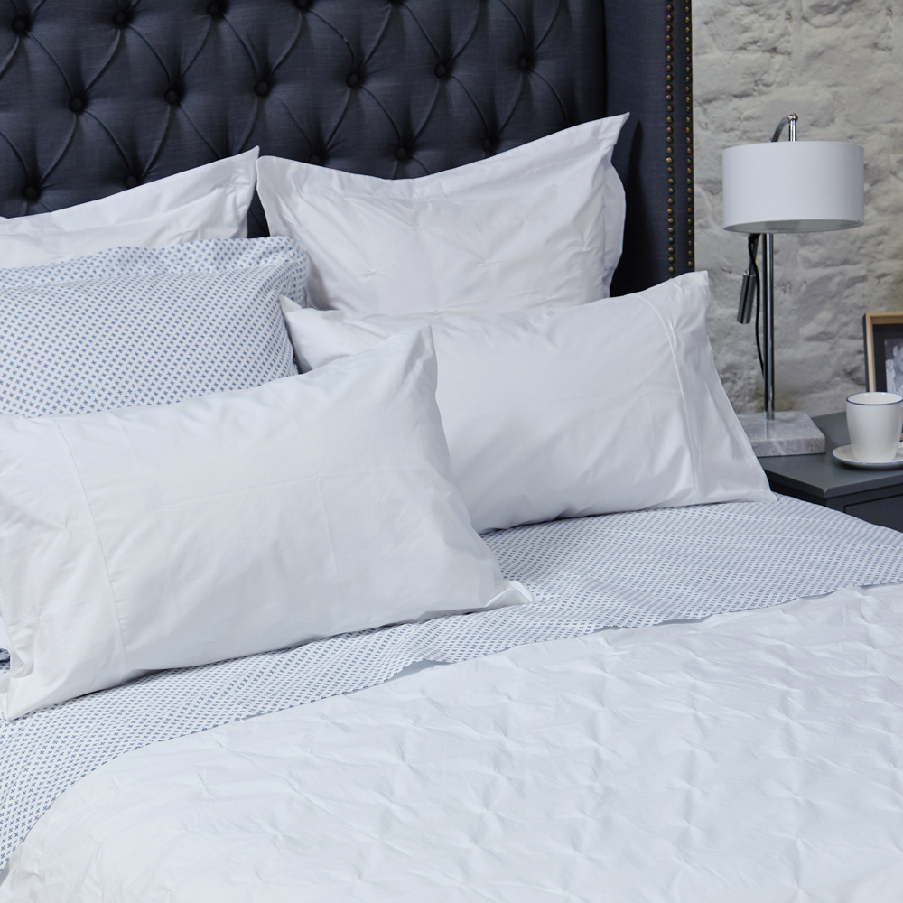 Pintuck White Duvet Set