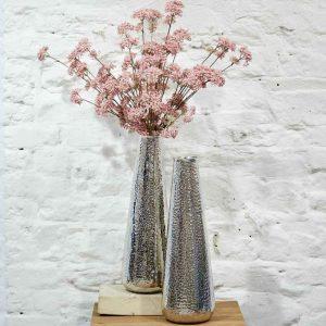 Aluminium hammered vase, €64.95