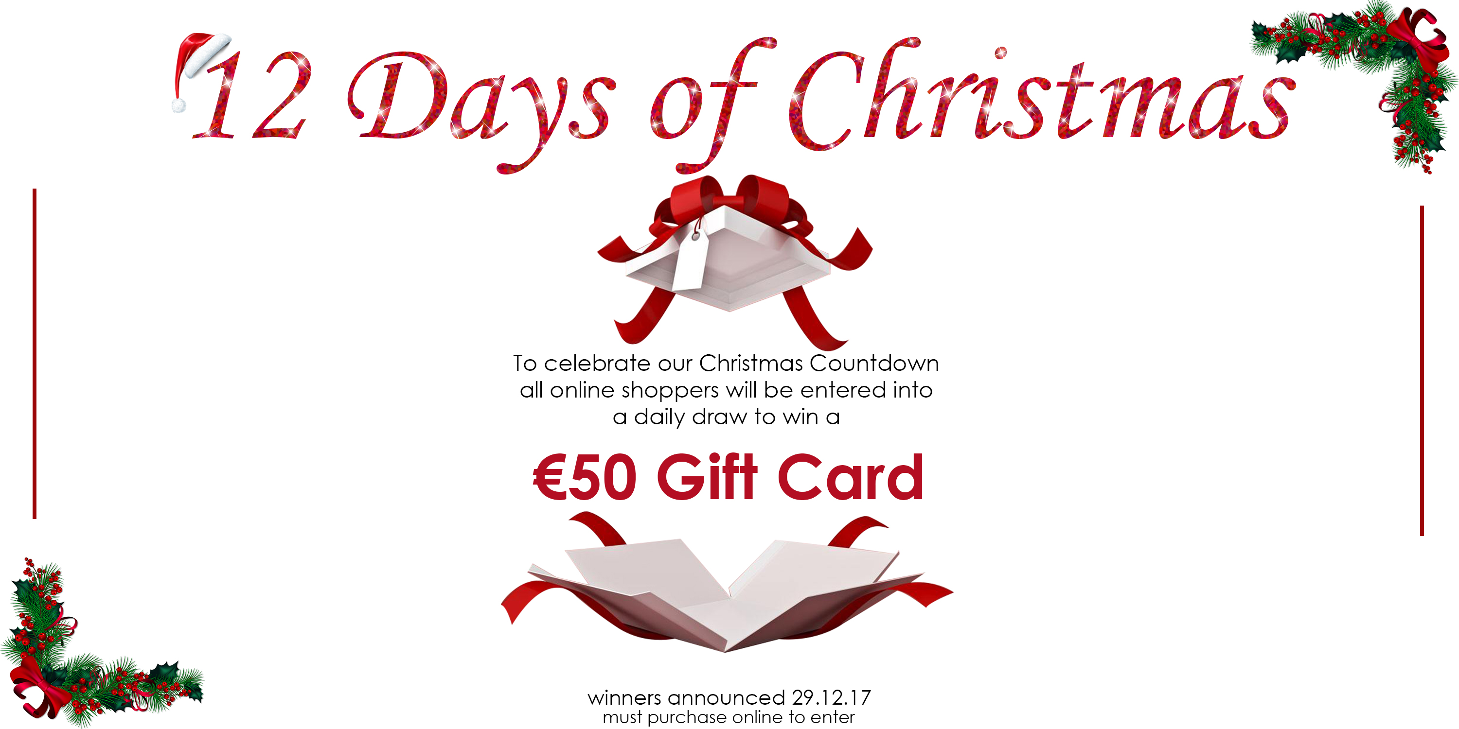 12 Days of Christmas - win a €50 Gift Card